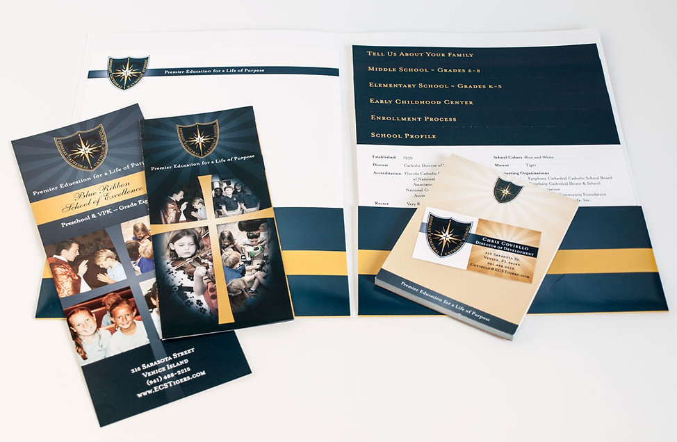 Epiphany Cathedral Catholic School Brochure Designs