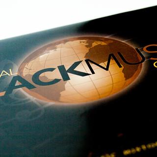 Global Black Music Center Brochure Logo Design