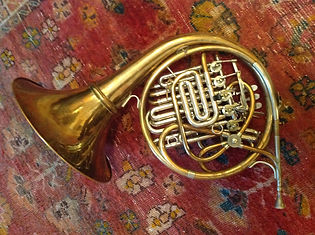 Karl Kramer horn collection: Paxman extra large bore descant horn with mouthpiece by Bruno Tilz