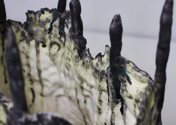 Black Spiky Sculpture