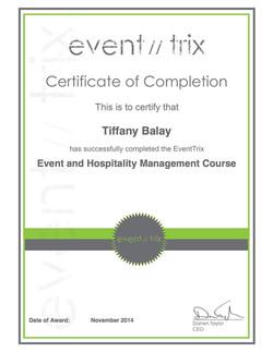 Event & Hospitality Management Cert