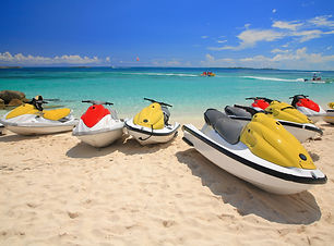 Jetski on Paradise Island beach of Atlan