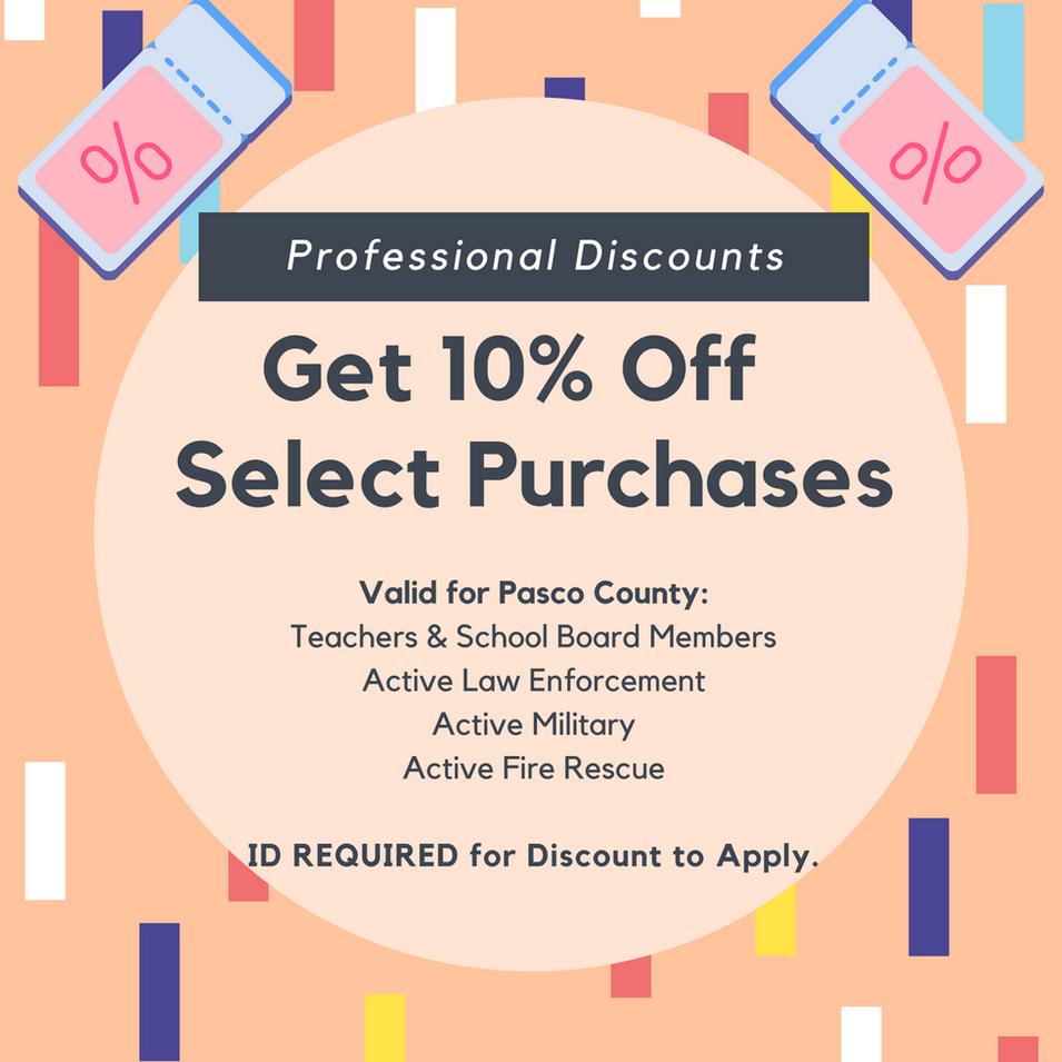 Professional Discounts