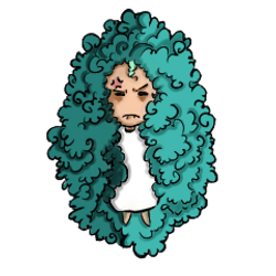 Afro girl- getting annoyed
