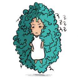 afro girl- just woke up