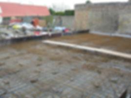 gewapende betonplaat