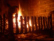 Vuurkorf openhaard gesmeed met drakekopjes