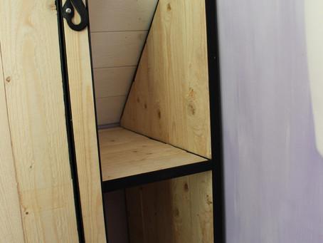 Inbouwkasten met gesmede scharnieren