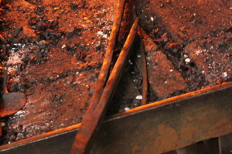 krul in smeedijzer voor luifel in Zilleb