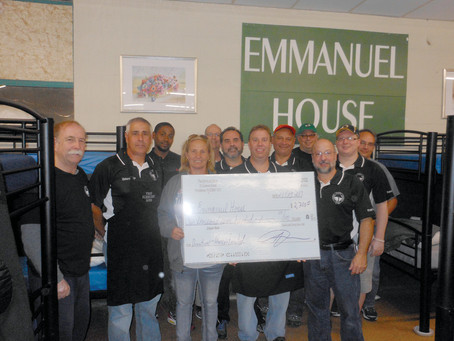 The Elmhurst Boys host meal for homeless at Emmanuel House in Providence