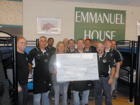 The Elmhurst Boys host meal for homeless at Emmanuel House in Providence