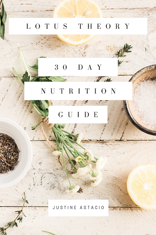 Lotus Theory Nutrition Guide