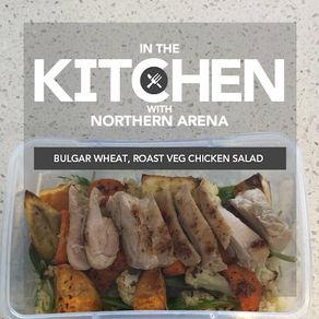 Bulgur Wheat Roast Veg Chicken Salad