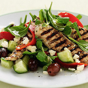 Italian Butterfly Chicken With Basil Pesto Greek Salad