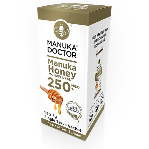 Manuka Dr Honey 10 x Sachet Box 250 mgo