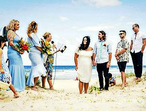 Celebrant Angie Dand Beach Wedding