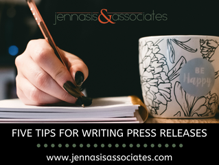 Five Tips For Writing Press Releases