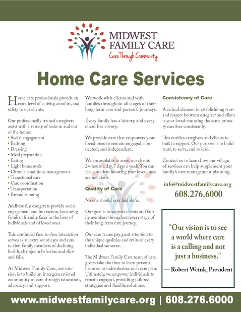 Home Care One Sheet