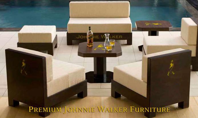 Johnnie Walker bespoke furniture design and manufacture