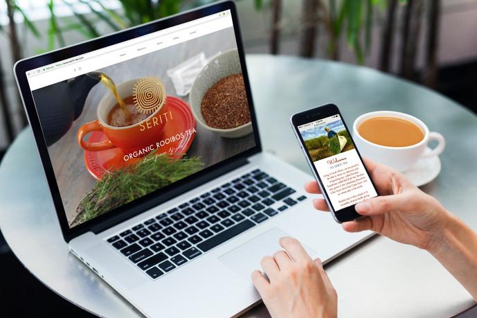 Seriti Tea website design