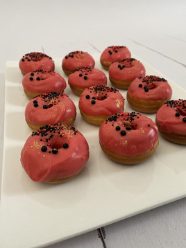 Mini donuts rouge
