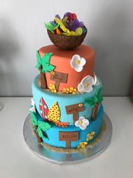 Gâteau Baptême Hawaii