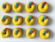 Mini donuts jaune