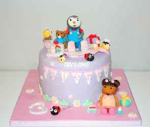 Gâteau tchoupi girly
