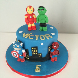 Gâteau Avengers de Victor