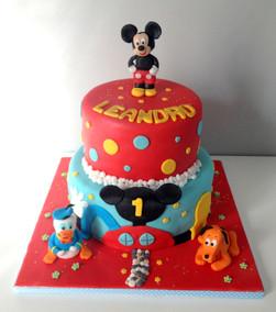 Gâteau Mickey & compagnie de Léandro