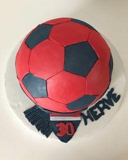 Gâteau Ballon de foot de Hervé.
