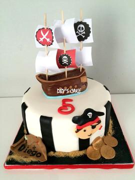 Gâteau pirate de Diego