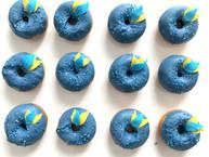 Mini donuts bleu