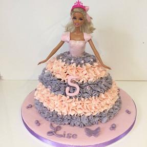 Gâteau Barbie de Lise