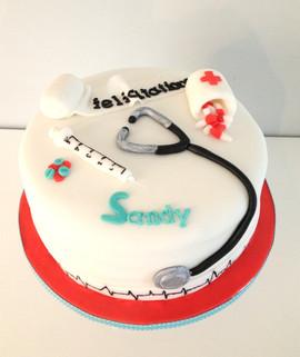 Gâteau Infirmière pour Sandy.