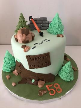 Gâteau randonnée pour Marie Claire.