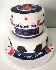Gâteau Baptême PSG
