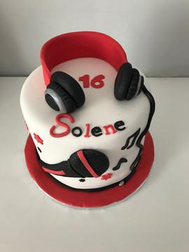 Gâteau Musique pour Solène.