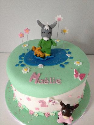 Gâteau l'âne Trotro de Maëlie