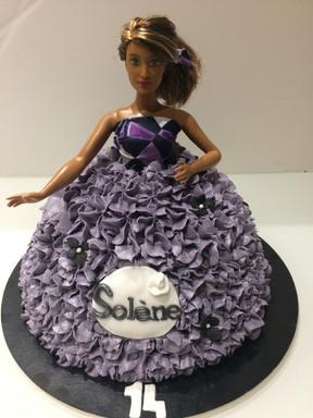 Gâteau Barbie de Solène