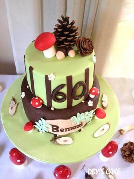 Gâteau forêt pour Bernard.