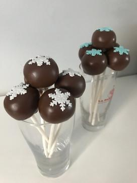 Cake pops thème Reine des neiges