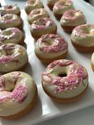 Mini donuts chocolat blanc