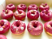 Mini donuts rose fushia