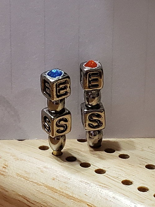 Personalized Cribbage Pegs