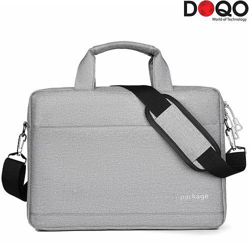 "DOQO - Laptop Bag - B023 Grey - 17.3"""