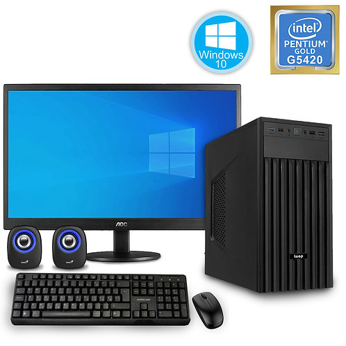 Desktop PC - Basic Pentium Set - G5420\Windows 10 + Monitor\KBM\SP
