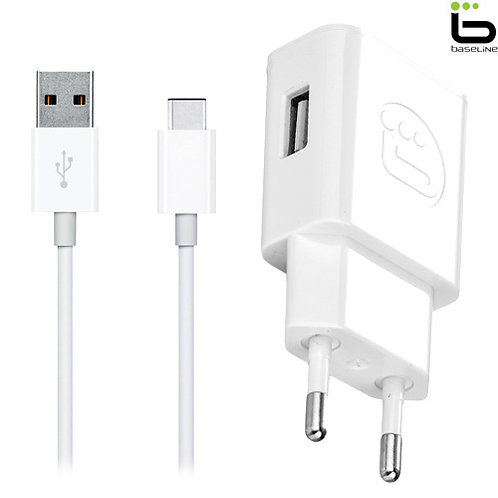 Baseline - Travel Charger 2.1A + Type-C Cable