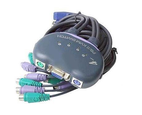 KMV Switch - 4 Ports PS/II VGA