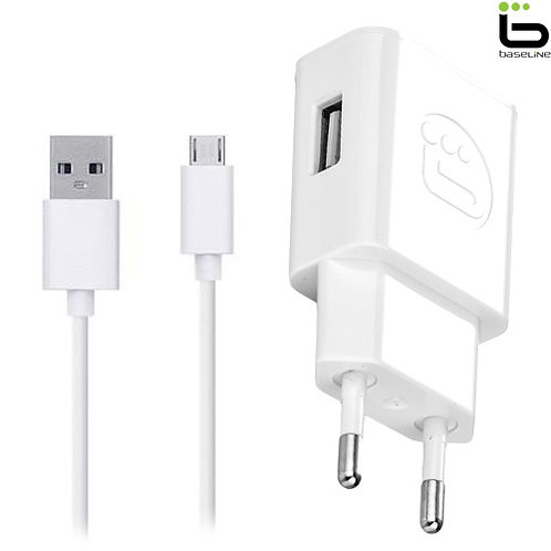 Baseline - Travel Charger 2.1A + Micro USB Data Cable